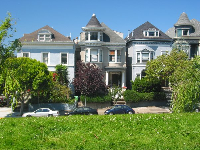You've gotta love the Victorian houses in San Fran!