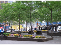 Zuccotti Park, where Occupy Wall Street protests were held.
