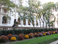 North side of the park and the New York Public Library.