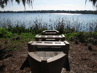 Boat Benches, by Katy Tyszko, at Rollins College.