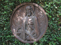 12 Stations of the Cross, in the Albin Polasek Sculpture Gardens.