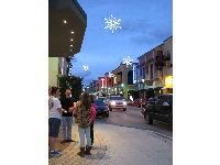 CityPlace at Christmas time.