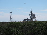 The tour takes you to launch pads in the wide open spaces surrounding the museum.