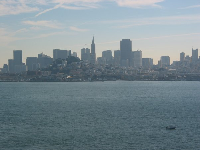 San Francisco's skyline, as seen from Alcatraz.