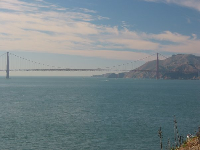 Views of Golden Gate Bridge from Alcatraz Island!