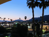 The California sky at night, as seen from Holiday Inn in Pasadena.