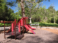 The play structures.