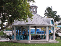 Gazebo on the waterfront at Veterans Park.
