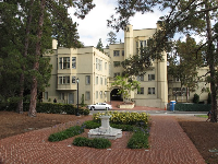 Stephens Hall, built in 1923 in Collegiate Gothic Style.