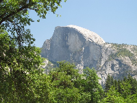 View of half dome at the end of the hike.