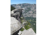 Wonderful vantage point at the top of Glacier Point Lookout.