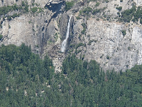 View of Lower Yosemite Falls, from Glacier Point Lookout.