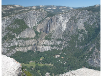 Upper and Lower Yosemite Falls, from Glacier Point Lookout.