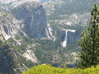 Nevada Falls pounding down in early June 2014, as seen from Glacier Point.