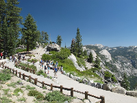 Glacier Point is a popular spot.