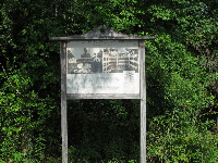 Sign at the entrance to the White Sulphur Spring ruins.