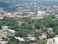 View of Florida State University campus from the top floor of the capitol building.