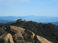 If you hike a few minutes until you're up high, you can see far south along the coast, all the way to Oxnard and beyond.