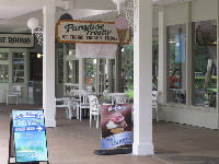 Ice cream shop at the promenade.