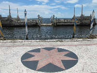 Star on the East Terrace, and the barge.