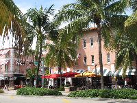 The entrance to Espanola Way, as seen from Washington Ave.