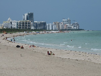 View of South Beach from the pier.