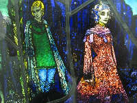 Part of Harry Clarke's stained glass window.