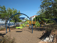 Playground and benches.