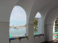 Via Casino archway, in Avalon.