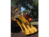 Three pumpkin-colored slides!