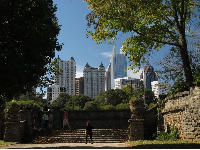 The marvelous stone steps and Atlanta skyline inspire you!