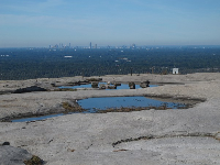 Freshwater pool at the top of Stone Mountain.