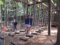 Camp Highland Outpost has some great balancing for little kids!