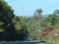 Country roads on the way to Amicalola Falls State Park.