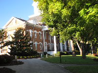 Historic building on campus.