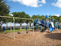 Swings and playground at Bicentennial Park.