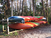 Canoes for rent.
