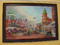 Painting of historic downtown Orlando, by Wayne Hovis.