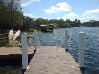 Looking out on Paddleboard Orlando from the dock.