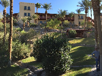 Furnace Creek Inn has nice grounds to walk around.