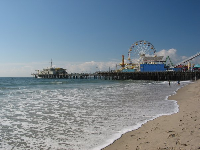 The beach and pier- a perfect scene of fun!