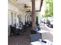 Restaurant with attractive outdoor seating.