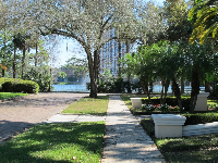 View to the water from Park Lake Court.