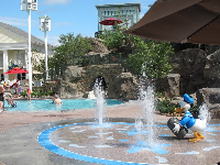 The Donald Duck splash pad at Saratoga Springs Resort is a blast!