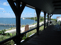 The balcony that faces the intracoastal.