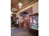 Small museum in the Morocco section.