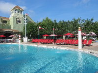 Relaxing second pool at Saratoga Springs Resort.