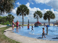 Splash pad with a water view!