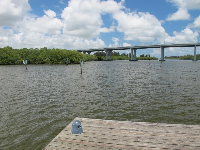 View from the end of the dock.