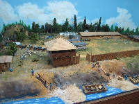 Diorama of Fort Pierce, circa 1838.